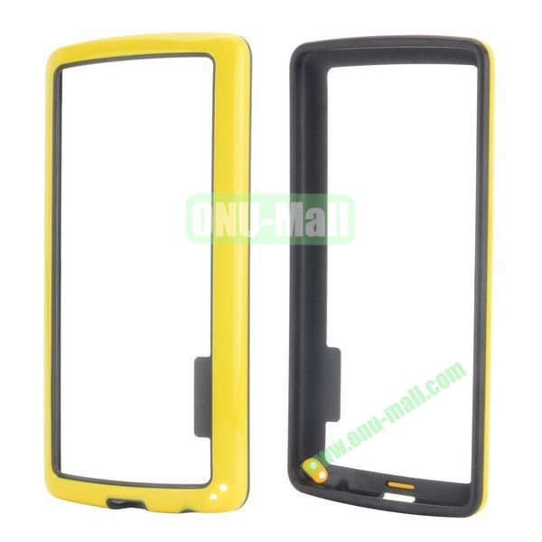 Dual Color Two in One Pattern TPU and PC Hard Bumper Frame Case for iPhone 6 Plus 5.5 inch (Black and Yellow)