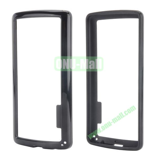 Dual Color Two in One Pattern TPU and PC Hard Bumper Frame Case for iPhone 6 Plus 5.5 inch (Black)