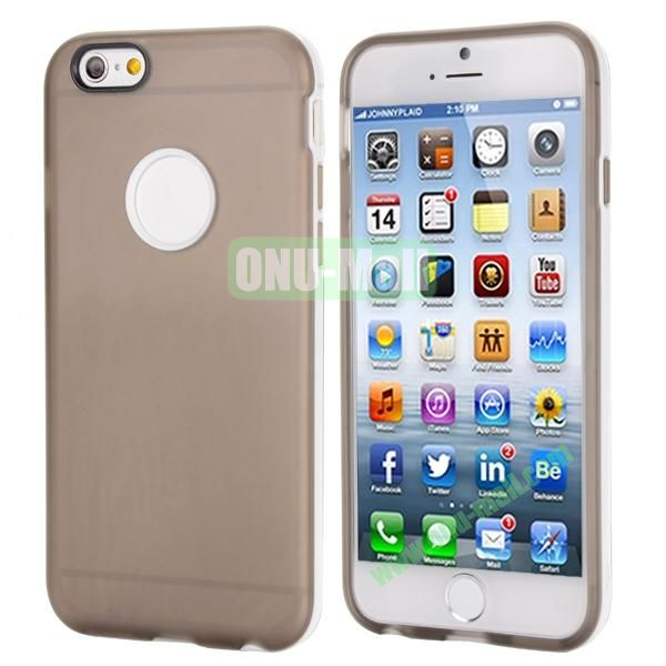Smooth Detachable PC Bumper and TPU Hybrid Case for iPhone 6 4.7 inch (Grey)