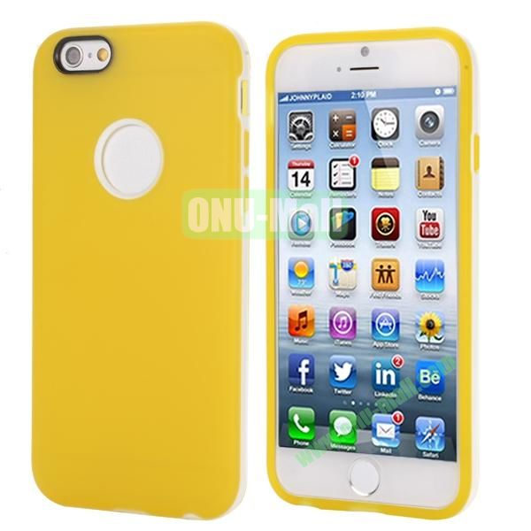 Smooth Detachable PC Bumper and TPU Hybrid Case for iPhone 6 4.7 inch (Yellow)