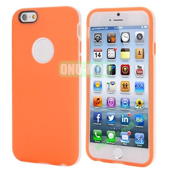 Smooth Detachable PC Bumper and TPU Hybrid Case for iPhone 6 4.7 inch (Orange)