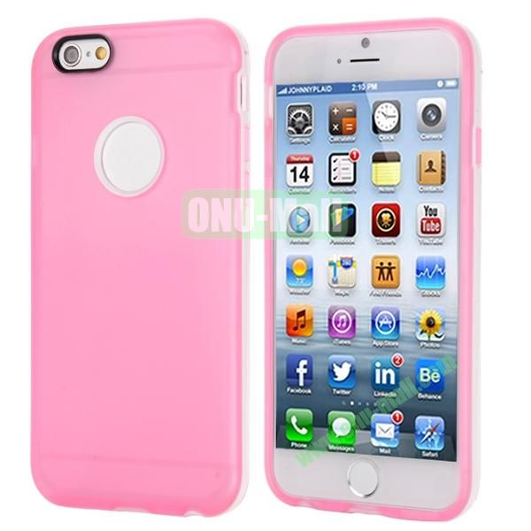 Smooth Detachable PC Bumper and TPU Hybrid Case for iPhone 6 Plus 5.5 inch (Pink)