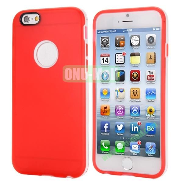 Smooth Detachable PC Bumper and TPU Hybrid Case for iPhone 6 Plus 5.5 inch (Red)
