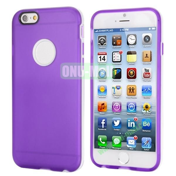 Smooth Detachable PC Bumper and TPU Hybrid Case for iPhone 6 4.7 inch (Purple)