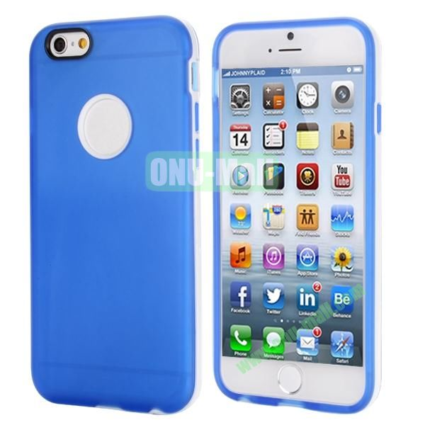 Smooth Detachable PC Bumper and TPU Hybrid Case for iPhone 6 Plus 5.5 inch (Blue)
