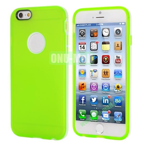 Smooth Detachable PC Bumper and TPU Hybrid Case for iPhone 6 Plus 5.5 inch (Green)