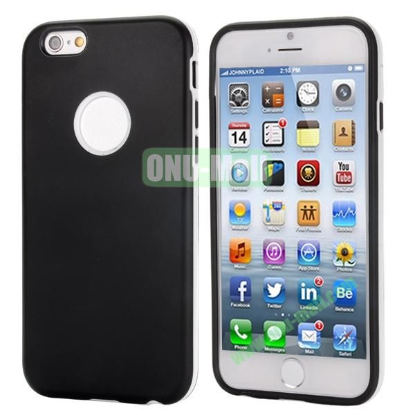 Smooth Detachable PC Bumper and TPU Hybrid Case for iPhone 6 4.7 inch (Black)