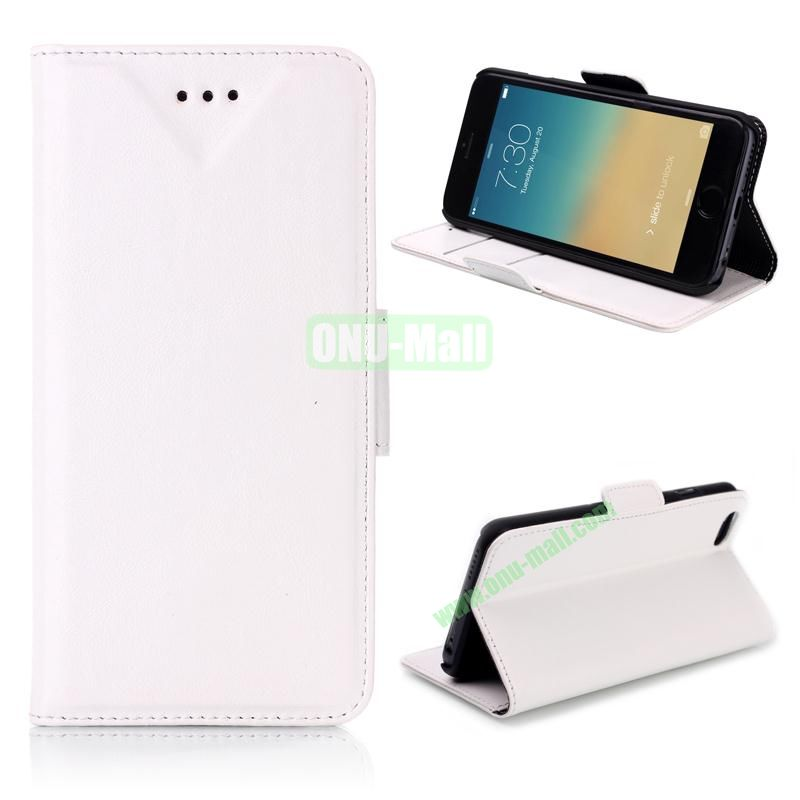 Oil Buffed Leather Flip with Card Slots Case for iPhone 6 Plus 5.5 inch (White)