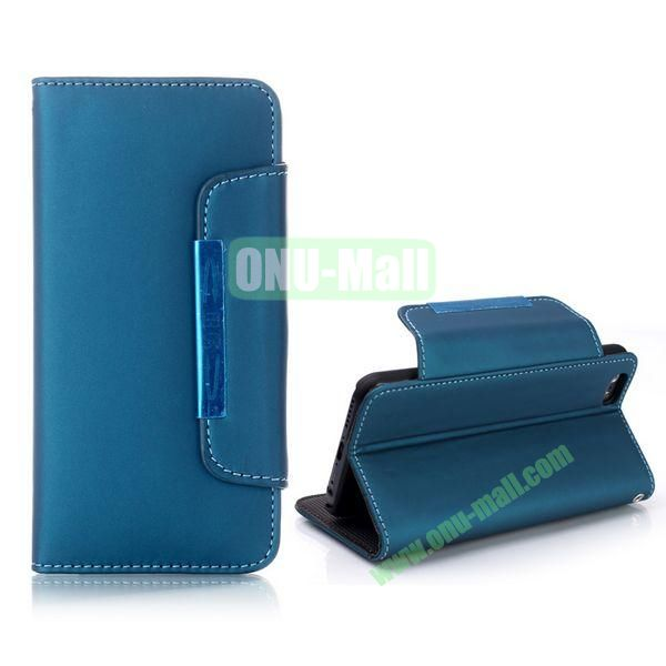 Fashion Wallet Style Flip Magnetic Leather Case for iPhone 6 Plus 5.5 inch with Strap (Green)