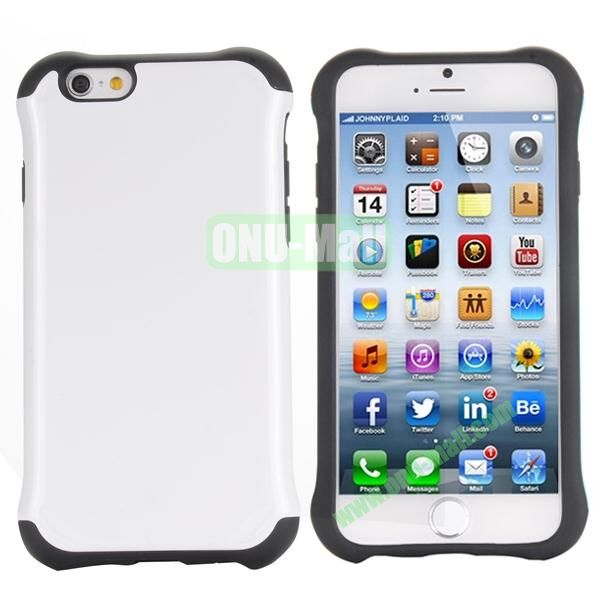 Two in One Pattern PC+TPU Hybrid Case For iPhone 6 Plus 5.5 inch (White)