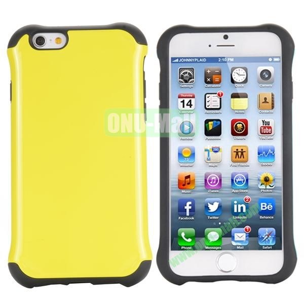 Two in One Pattern PC+TPU Hybrid Case For iPhone 6 Plus 5.5 inch (Yellow)