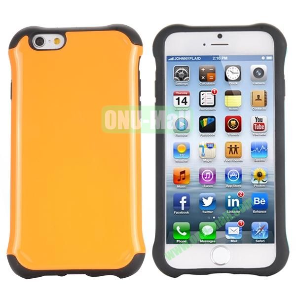 Two in One Pattern PC+TPU Hybrid Case For iPhone 6 Plus 5.5 inch (Orange)