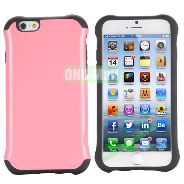 Two in One Pattern PC+TPU Hybrid Case For iPhone 6 Plus 5.5 inch (Pink)