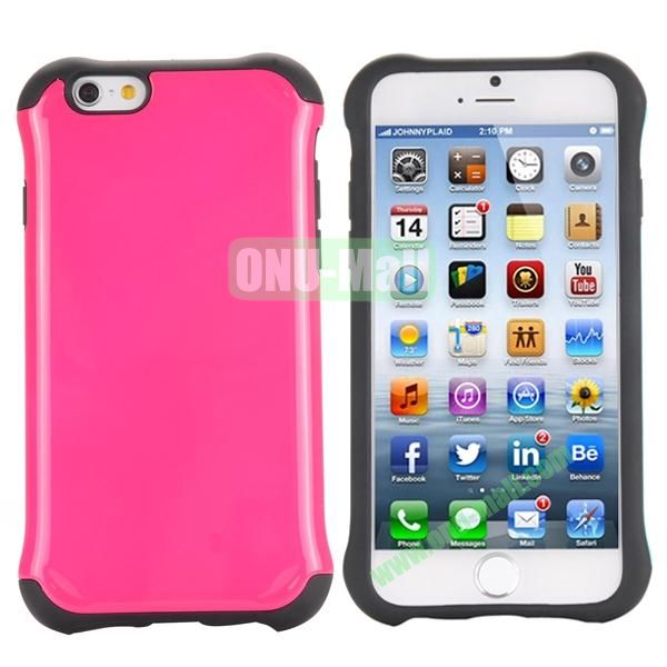Two in One Pattern PC+TPU Hybrid Case For iPhone 6 Plus 5.5 inch (Rose)