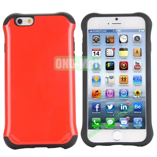 Two in One Pattern PC+TPU Hybrid Case For iPhone 6 Plus 5.5 inch (Red)