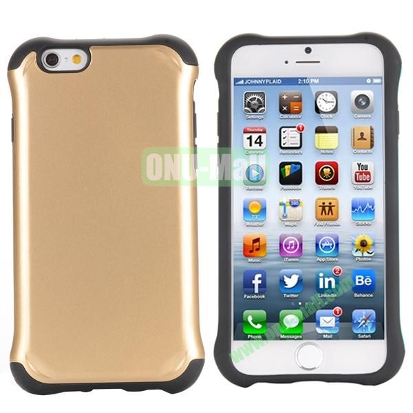 Two in One Pattern PC+TPU Hybrid Case For iPhone 6 Plus 5.5 inch (Gold)