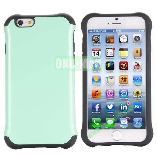 Two in One Pattern PC+TPU Hybrid Case For iPhone 6 Plus 5.5 inch (Light Green)