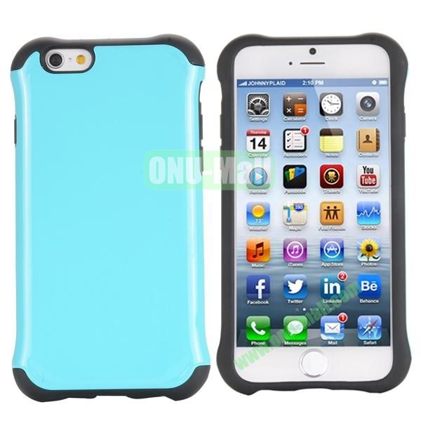 Two in One Pattern PC+TPU Hybrid Case For iPhone 6 Plus 5.5 inch (Blue)