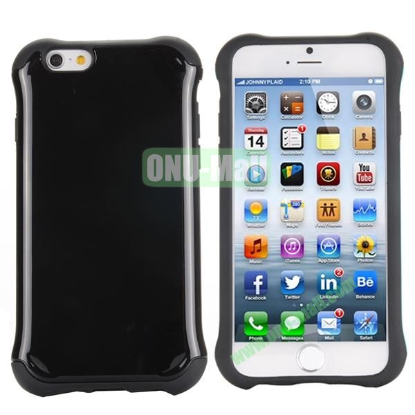Two in One Pattern PC+TPU Hybrid Case For iPhone 6 Plus 5.5 inch (Black)