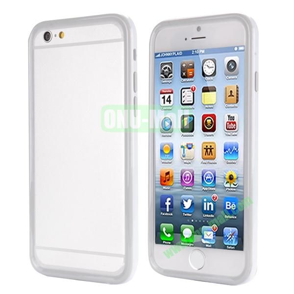 Ultrathin Double Color Detachable TPU and PC Bumper Frame Case for iPhone 6 Plus 5.5 inch (White and Grey)