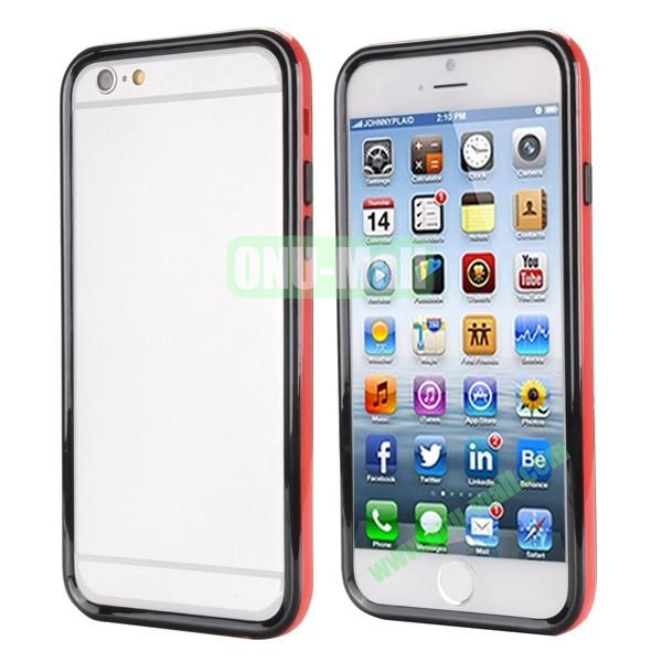 Ultrathin Double Color Detachable TPU and PC Bumper Frame Case for iPhone 6 Plus 5.5 inch (Black and Red)
