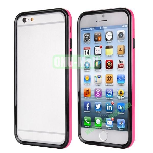 Ultrathin Double Color Detachable TPU and PC Bumper Frame Case for iPhone 6 Plus 5.5 inch (Black and Rose)