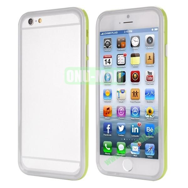 Ultrathin Double Color Detachable TPU and PC Bumper Frame Case for iPhone 6 Plus 5.5 inch (Green and White)
