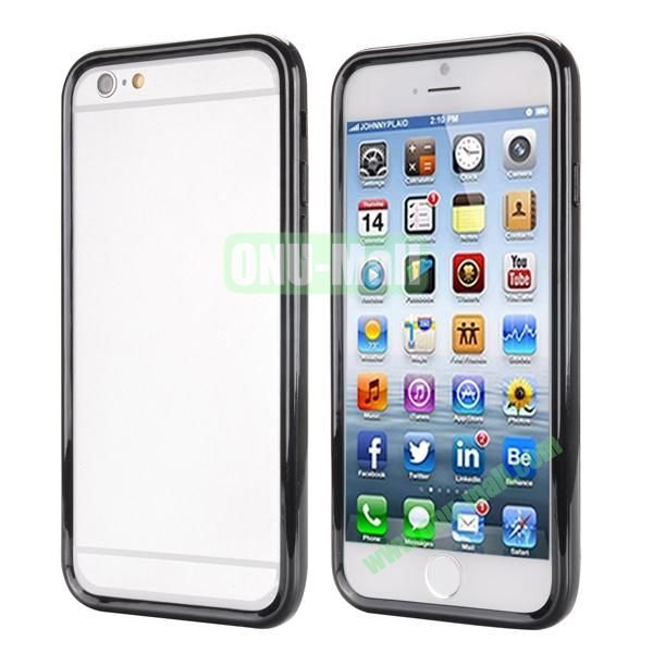 Ultrathin Double Color Detachable TPU and PC Bumper Frame Case for iPhone 6 Plus 5.5 inch (Black)