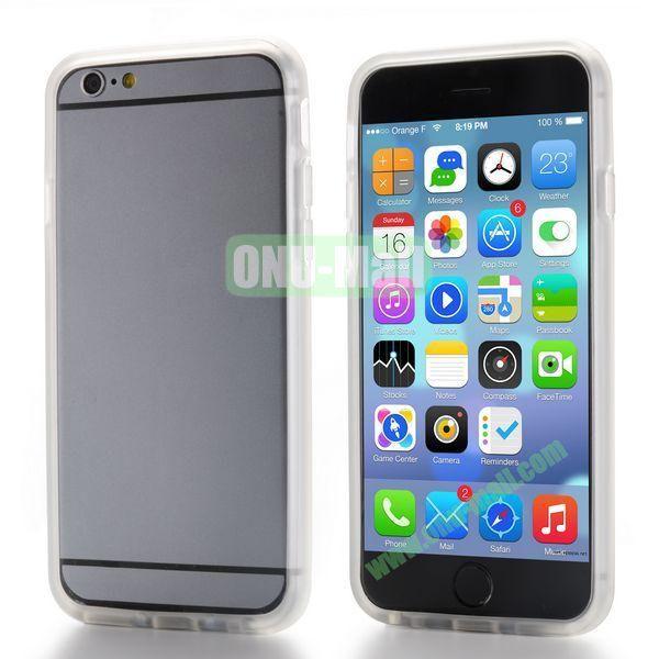 New Design TPU Bumper Frame Case For iPhone 6 Plus 5.5 inch (Transparent)