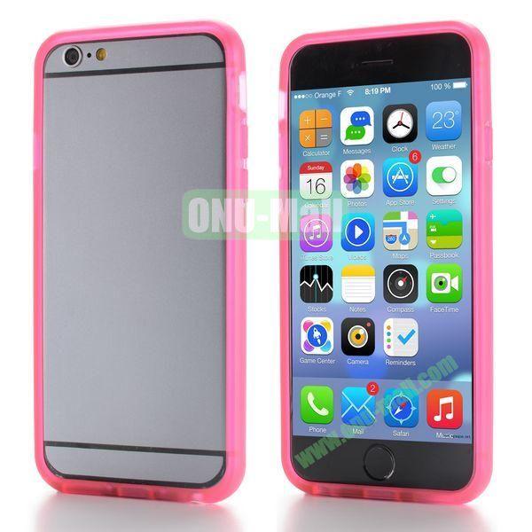 New Design TPU Bumper Frame Case For iPhone 6 Plus 5.5 inch (Hot Pink)