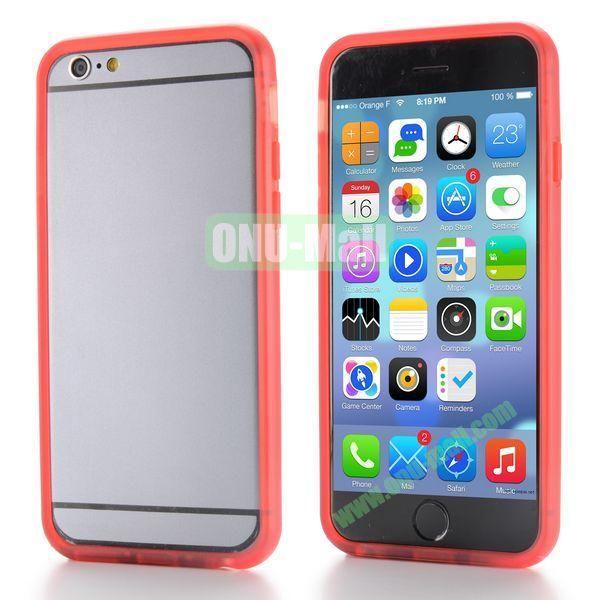 New Design TPU Bumper Frame Case For iPhone 6 Plus 5.5 inch (Red)