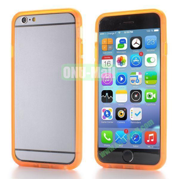 New Design TPU Bumper Frame Case For iPhone 6 Plus 5.5 inch (Orange)