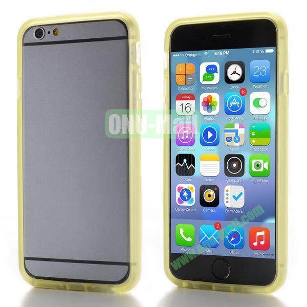 New Design TPU Bumper Frame Case For iPhone 6 Plus 5.5 inch (Yellow)