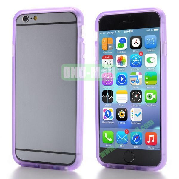 New Design TPU Bumper Frame Case For iPhone 6 Plus 5.5 inch (Purple)