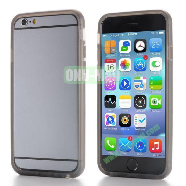 New Design TPU Bumper Frame Case For iPhone 6 Plus 5.5 inch (Grey)