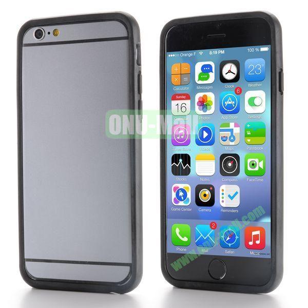 New Design TPU Bumper Frame Case For iPhone 6 Plus 5.5 inch (Black)