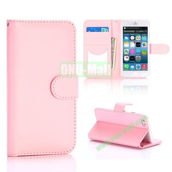 Flip Magnetic Stand PU Leather Case for iPhone 6 Plus 5.5 inch (Pink)