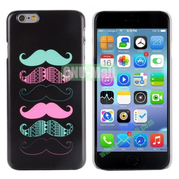 Special Pattern PC Hard Case for iPhone 6 Plus 5.5 inch (Many Mustaches)