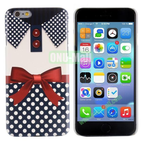 Special Pattern PC Hard Case for iPhone 6 Plus 5.5 inch (Red Bowknot)