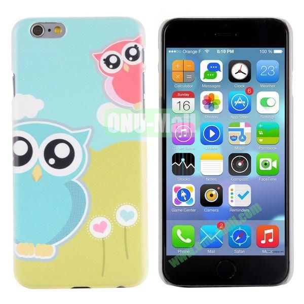 Special Pattern PC Hard Case for iPhone 6 Plus 5.5 inch (Two Cute Owls)