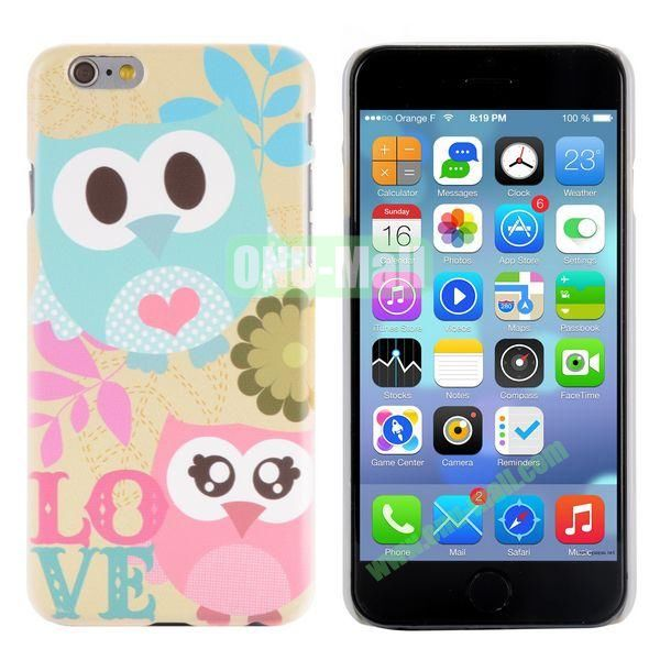 Special Pattern PC Hard Case for iPhone 6 Plus 5.5 inch (Lovely Owls)