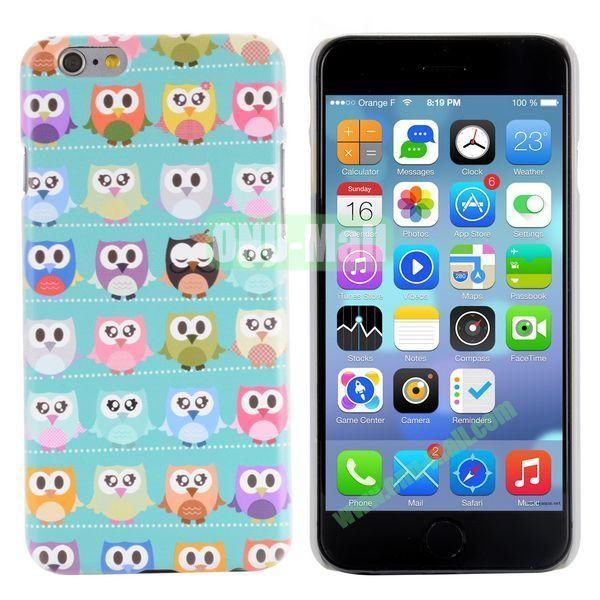 Special Pattern PC Hard Case for iPhone 6 Plus 5.5 inch (Many Owls)