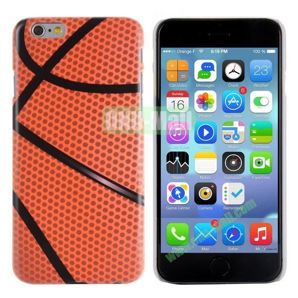 Special Pattern PC Hard Case for iPhone 6 Plus 5.5 inch (Basketball)
