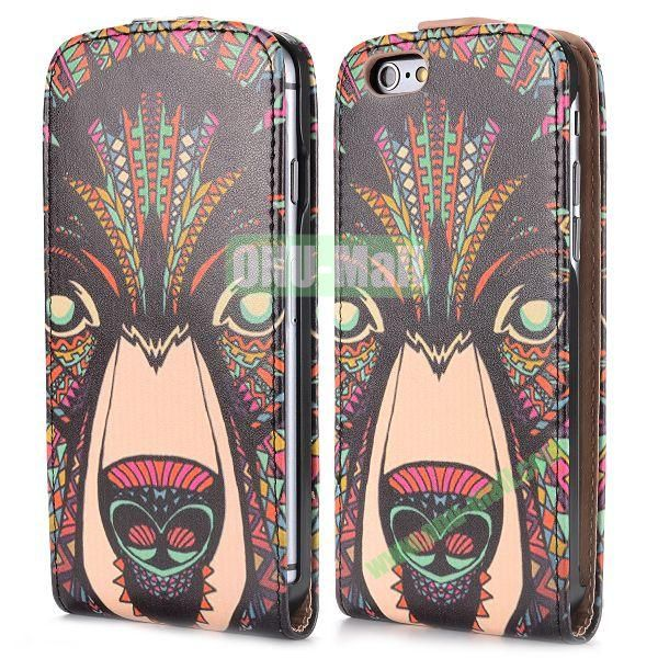 2014 New Design Special Tribal Pattern Vertical Magnetic Flip Leather Case for iPhone 6 Plus 5.5 inch (Tribal Leopard)