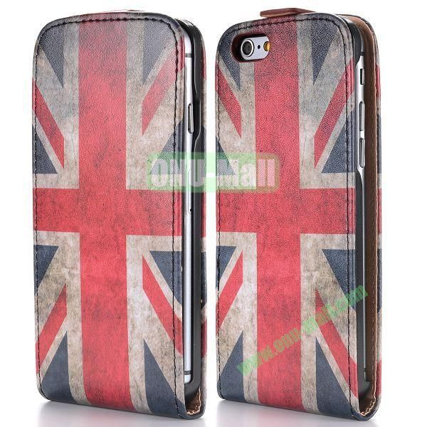 Retro UK Flag Pattern Vertical Magnetic Flip PC+PU Leather Case for iPhone 6 Plus 5.5 inch