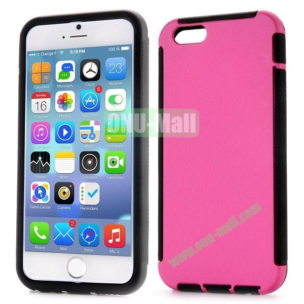 Detachable 2 in 1 Full Protective Rubber Coated PC+TPU Hybrid Case for iPhone 6 4.7 inch (Rose)
