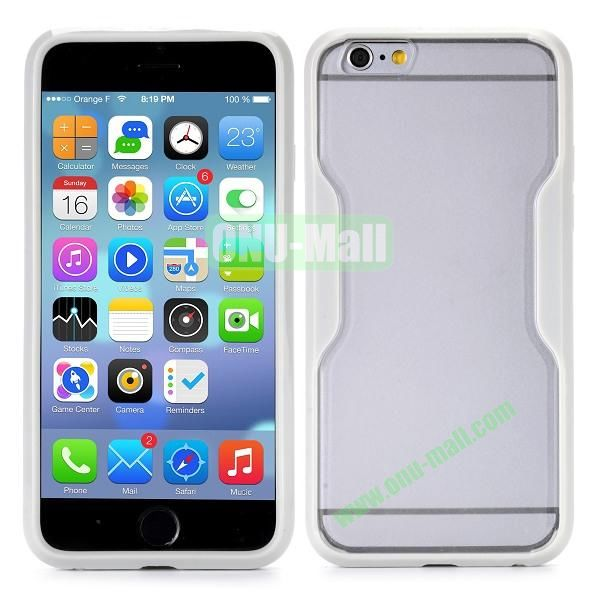 Translucent Matte Design PC and TPU Case for iPhone 6 4.7 inch (Grey)