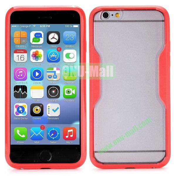 Translucent Matte Design PC and TPU Case for iPhone 6 4.7 inch (Red)