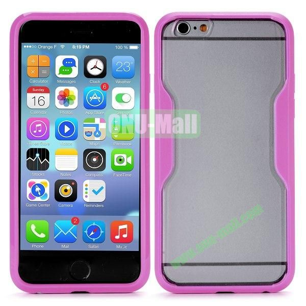 Translucent Matte Design PC and TPU Case for iPhone 6 4.7 inch (Rose)