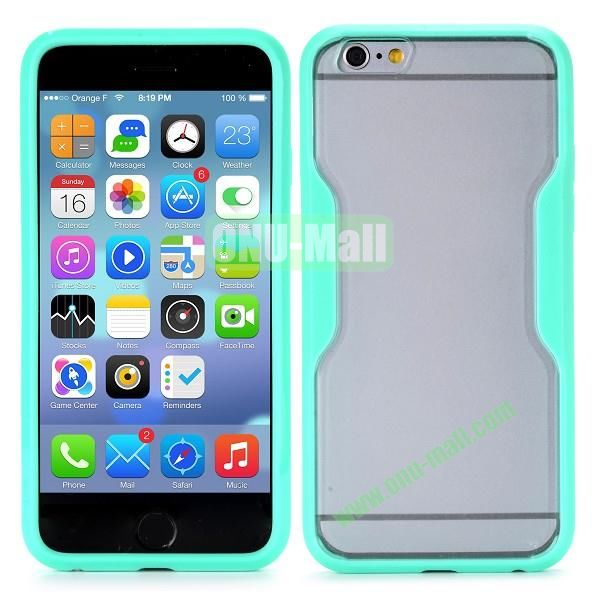 Translucent Matte Design PC and TPU Case for iPhone 6 4.7 inch (Mint Green)
